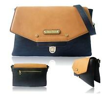 LADIES ANNA SMITH ENVELOPE EVENING CLUTCH BAG FAUX LEATHER SHOULDER HANDBAG