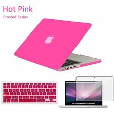 "Matt Hard Case Shell +Keyboard Cover for Macbook Pro 13/15"" Air 11/12""inch"