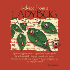 Ladybug T-shirt ORGANIC Cotton Nature S M L XL 2XL NWT Advice NEW RED Gildan