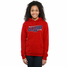 Ole Miss Rebels Women's Double Bar Pullover Hoodie - Red - College