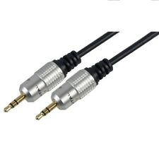 3.5mm Jack to Jack Plug Aux Audio Headphone Cable STEREO OFC Lead + 24K GOLD