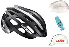 LAZER Z1 ROAD BIKE HELMET KIT BLACK/SILVER