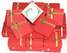 LOT OF 1~288 RED BRACELET BOXES BANGLE BOX w/BOW TIE WHOLESALE JEWELRY BOXES
