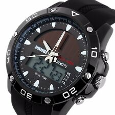 SKMEI 1064 Men SOLAR POWERED Digital Analog Tough Alarm Chronograph Quartz Watch
