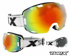 TWO-X Air Ski Goggles Snowboard Goggles Frameless Glasses white iridium mirrored