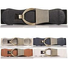 NEW FASHION BELTS WOMENS LADIES FAUX LEATHER SLIM ELASTIC BOW THIN WAIST BELT