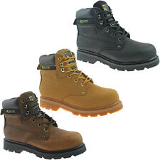 GRAFTERS STEEL TOE SAFETY WORK BOOTS SIZE 3 - 14 BLACK BROWN HONEY M538 KD