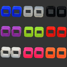 Pair Ear Expander-Ear Stretcher-Ear Tunnels Plugs Piercing Silicone Square Style