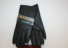 Isotoner Womens Dress LEATHER Gloves - 40 Gram THINSULATE LINED - BLACK *NEW*