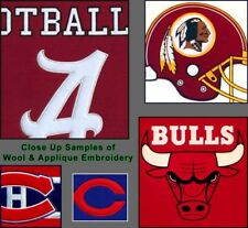 "Choose Your NCAA College Team 12 x 18"" Embroidered Wool Traditions Banner Flag"