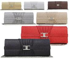NEW WOMENS LADIES DIAMANTE GLITTER BRIDAL PARTY EVENING PROM ENVELOPE CLUTCH BAG