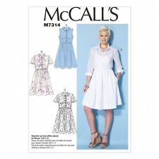 McCalls Ladies Easy Sewing Pattern 7314 Shirt Dresses with Cup Sizes (McCalls...