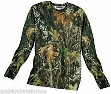 Mossy Oak Long Sleeve Dri Fit CAMOUFLAGE Hunting Fishing Workout Shirts NEW