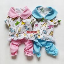 Cute Pet Dog Pajamas Pants Overalls Jumpsuits Pet Apparel Dog Clothes Blue /Pink
