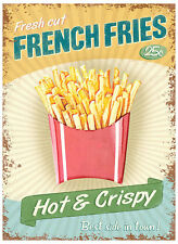 Fresh Cut French Fries Metal Tin Wall Art Sign / Plaque