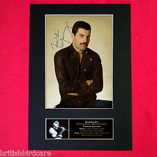 FREDDIE MERCURY Queen Mounted Signed Photo Reproduction Autograph Print A4 65