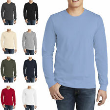 American Apparel Unisex Size S-2XL Long Sleeve Crew 100% Fine Cotton T-Shirt t