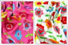 Funky Flower Hearts Print Cotton Poplin Dress Fabric (JL-87012-M)