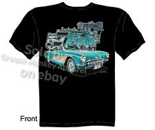 Corvette Shirts Chevy T Shirt Chevrolet Apparel Classic Car T Shirts 1957 C1 Tee
