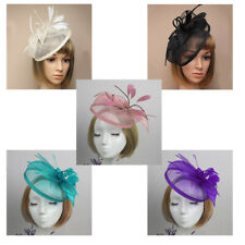 Flower Feather Fascinator Aliceband Hat Headband Ladies Day Race Royal Ascot