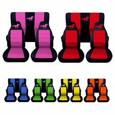 1983 to 1993 Ford Mustang Convertible Horse Seat Covers. Choose Your Colors!