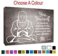 - Buddha Wall Decor Picture - Self Love Inspirational Wall Canvas Pick A Colour