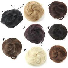 Fashion Womens Clip in/on Hair Bun Hairpiece Hair Extension Scrunchie Pony Tail