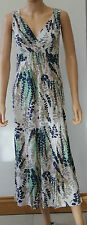 Ex Boden Ivory Floral Jersey Maxi Dress Regular & Long 8 10 12 14 16 18 Summer