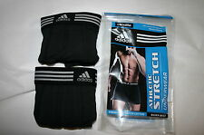 2 MENS ADIDAS BOXER BRIEFS CLIMALITE ATHLETIC STRETCH BOTH BLACK XL NWT