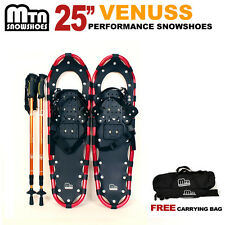 """New MTN RED All Terrain 25"""" Snowshoes + Nordic Pole + Free Carrying Bag-choose"""