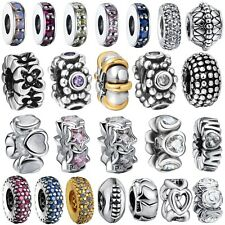 Fashion Spacer Bead 925 Sterling Silver Charm Fine Jewelry For European Bracelet