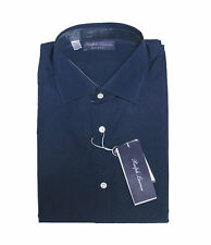 $695 Ralph Lauren Purple Label Italy Mens Solid Navy Button Down Dress Shirt New