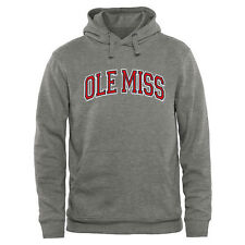 Ole Miss Rebels Arch Name Pullover Hoodie - Ash - College