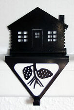 CHRISTMAS STOCKING HOLDER CABIN RUSTIC LODGE METAL ART FIREPLACE MANTLE DECOR