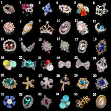 Alloy 3D Nail Art Accessories Decorations Sticker Tips Glitters Jewelry DIY 5Pcs