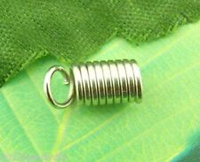 Wholesale New Silver Tone HOTSELL Coil End Crimp Fasteners 5x10mm