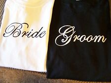 WEDDING SHIRTS!  BRIDE & GROOM SET! GREAT GIFT IDEA! FAST SHIP! NICE QUALITY!