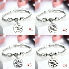 Family Forever Love Grandmother Mother Son Daughter Bracelet Bangle Jewelry Gift