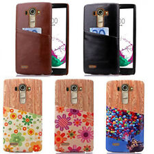 Luxury Slim Soft Pattered Leather Style Card Holder Back Case Cover For LG G3/G4