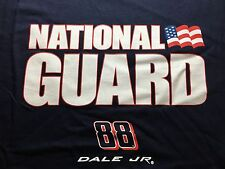 Dale Earnhardt JR Shirt National Guard Nascar Dale Jr Navy Blue T-shirt Adult