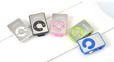 MINI Portable Mirror Clip USB Digital Mp3 Music Player Support 1-8GB SD TF Card