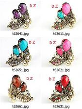 t626m41 New Bronze Crystal Rhinestone Flower Hair Clip Claws Crab Clamp Hairpin