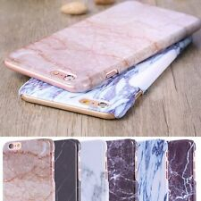 Glossy Thin Printed Marble Pattern Hard Case Cover For iPhone 6 4.7'&6s Plus+ 5s