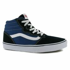 Vans Kids Milton Hi Juniors Boys Trainers Casual Shoes Canvas Lace Up Flat