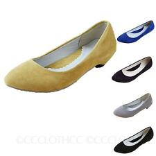 pointed toe Suede ballerinas Casual Retro Womens dolly Shoes ballet Flats Size