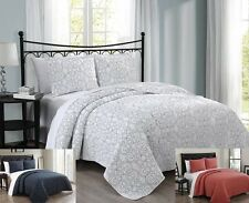 Alia Coverlet Bedspread Contemporary Wrinkle Free Set 100% Cotton Bed Quilts