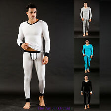MENS UNDERWEAR THERMAL VEST LONG JOHNS FULL SET WARM TIGHT SPORTS SLEEP PANTS
