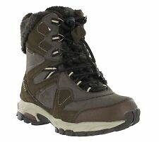 Womens Hi-Tec Fusion Brown Thermal Ski Waterproof Winter Snow Boots Size 4-8