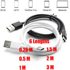 Black/White USB 3.0 Type C Type-C Male Data Sync Charging Cable For New Macbook