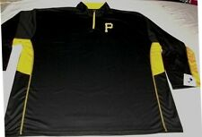 Pittsburgh Pirates 1/4 Zip Long Sleeve Jersey Shirt Embroidered Majestic MLB